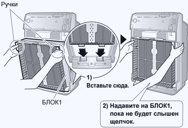 Инструкция по замене фильтра в очистителе воздуха дайкин MC70LVM